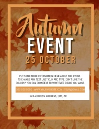 Autumn Event Video Flyer Template