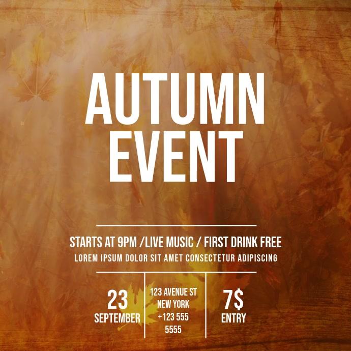 Autumn Event Video Template