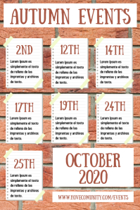 Autumn Events Fall Schedule Poster Template