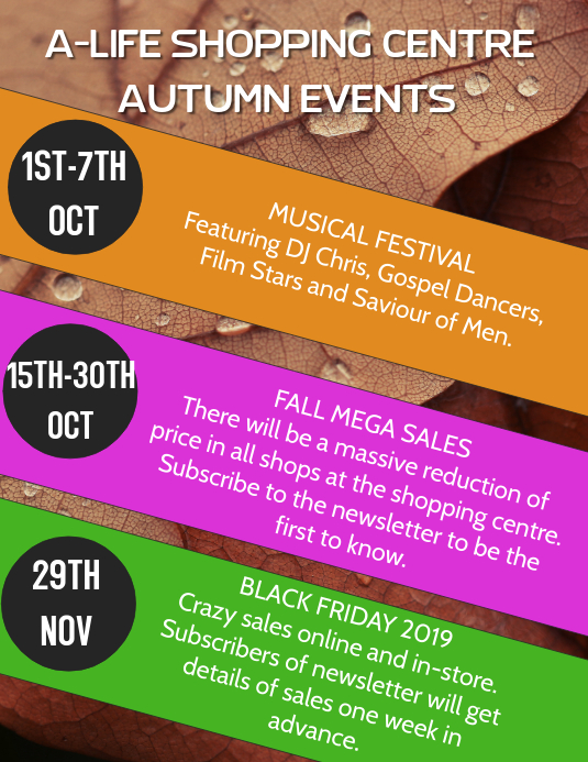 Autumn Events Template
