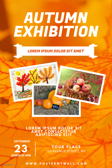 Autumn Exhibition Flyer Design Template