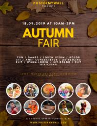 Autumn Fair Event Flyer Design Template