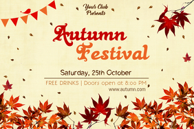 Autumn Fair Event Poster Template
