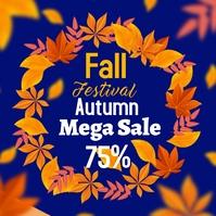 Autumn fall 2 โพสต์บน Instagram template