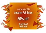 Autumn fall 4 A2 template