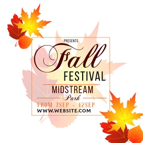 AUTUMN FALL ad social media TEMPLATE Square (1:1)