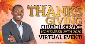 AUTUMN FALL CHURCH EVENT ONLINE TEMPLATE Facebook Shared Image