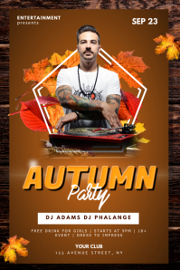 Autumn Fall Club Party Dj Flyer Template