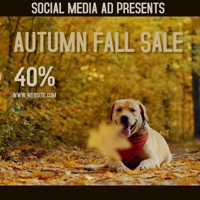 AUTUMN FALL DISCOUNT SALE AD DIGITAL