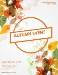 Autumn Fall Event Flyer Template