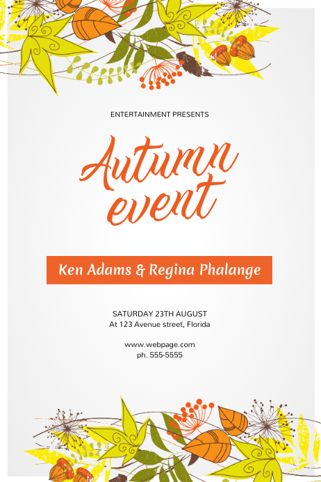autumn fall event flyer template postermywall