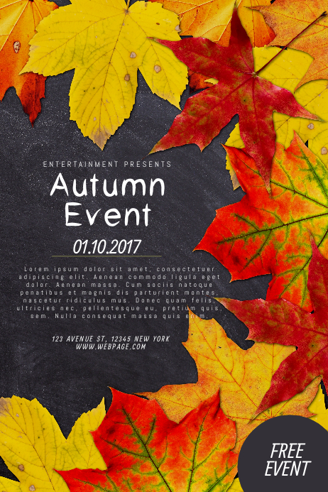 Autumn Fall Event Flyer