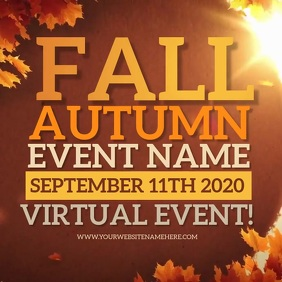 AUTUMN FALL EVENT SOCIAL MEDIA AD TEMPLATE