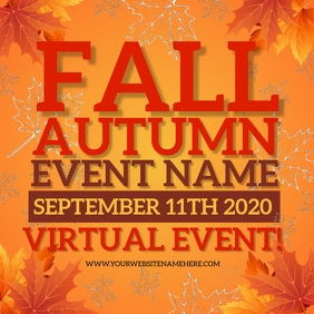 AUTUMN FALL EVENT SOCIAL MEDIA AD TEMPLATE Instagram Post