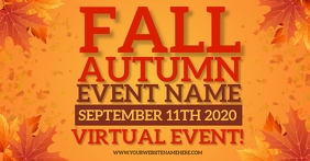 AUTUMN FALL EVENT SOCIAL MEDIA AD TEMPLATE Facebook Shared Image