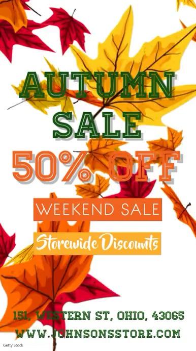 Autumn Fall Event Template