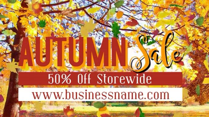 Autumn Fall Event Video Promo Digitalt display (16:9) template