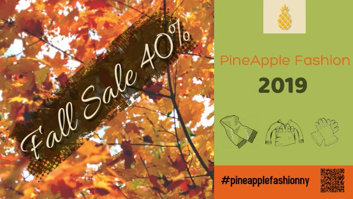 autumn/fall/facebook cover/retail/sale template