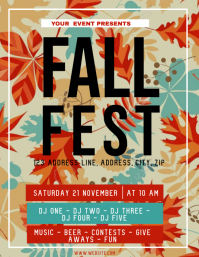 Autumn Fall Festival ad Flyer Template