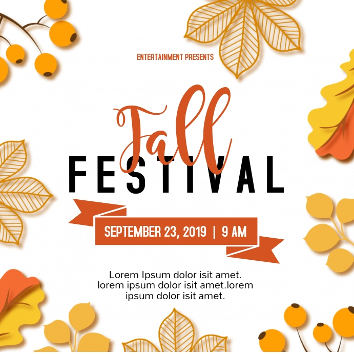autumn/fall festival
