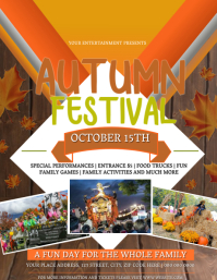 Autumn Fall Festival Event Flyer Template