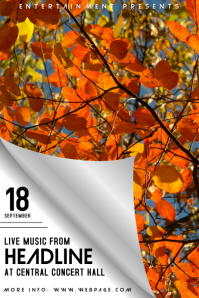 autumn fall festival event flyer template