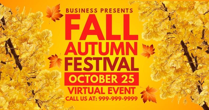 Autumn Fall Festival Event Template Image partagée Facebook