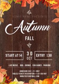 Autumn Fall Flyer A4 template