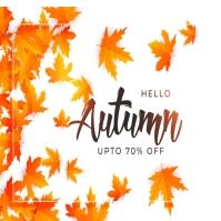 Autumn/fall flyer/logo template