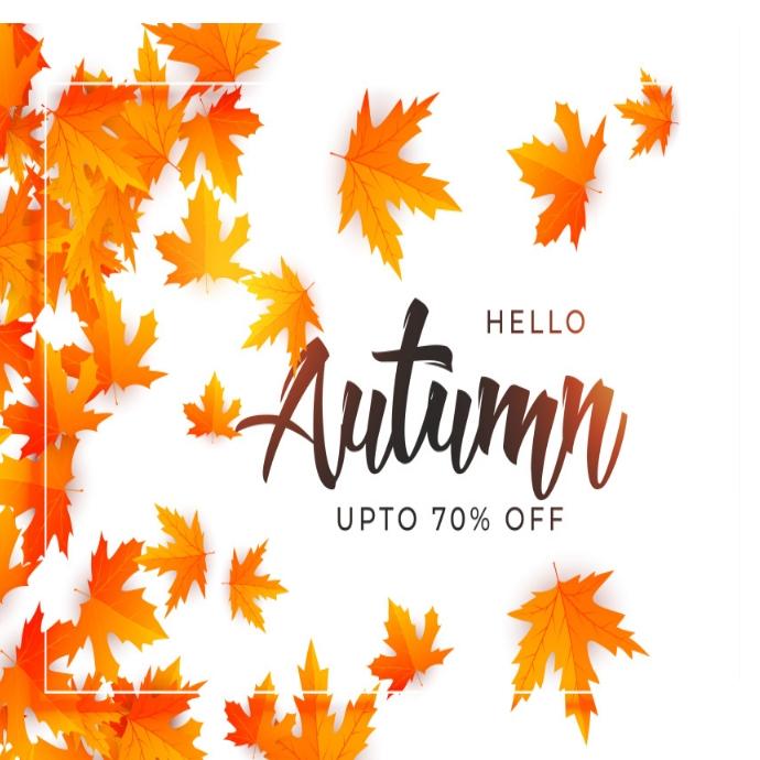 Autumn/fall flyer/logo Logotipo template