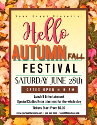 AUTUMN FALL fun day Flyer