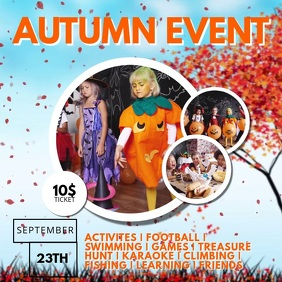 Autumn Fall Kids Event Video Advertising Template