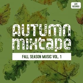 Autumn/fall mixtape mp3 music cd cover art Album Omslag template