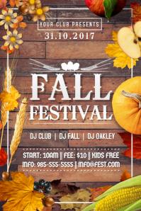 Autumn Fall October Fest Pumpkin Apple Corn Harvest Retail