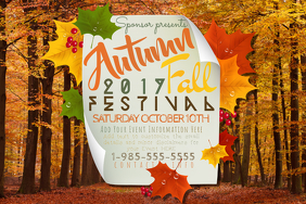 Autumn Fall October Festival Leaves Fest Bonfire Season Note