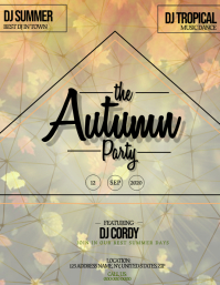 Autumn Fall Party Event Flyer Template
