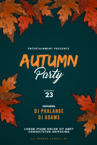 Autumn Fall Party Flyer Template Plakat