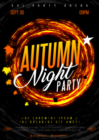 AUTUMN/FALL PARTY POSTER A4 template