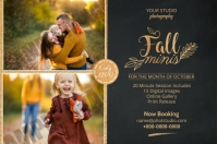 Autumn Fall Photography Mini Session Label template