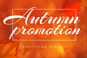 Autumn Fall promotion Sale landscape Flyer template