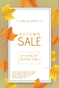 Autumn Fall Promotion Sale Flyer Template