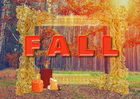 autumn/fall/retail/postcard/wedding/events