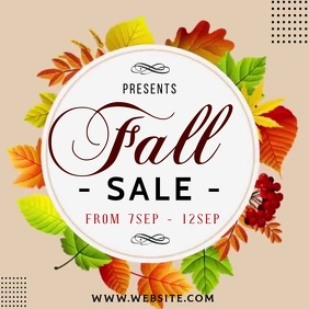 AUTUMN FALL SALE ad social media TEMPLATE 徽标