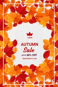 Autumn/Fall Sale Banner 4' × 6' template