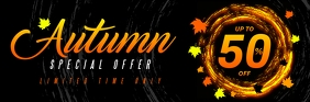 AUTUMN/FALL SALE EMAIL HEADER E-mail-overskrift template