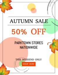 Autumn / Fall Sale Flyer