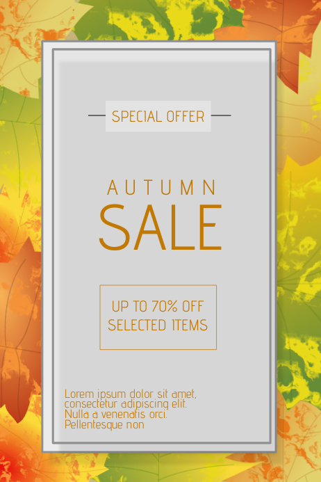 autumn fall sale flyer template