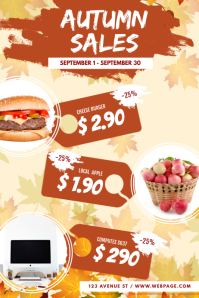 Autumn Fall Sale Flyer Template Poster