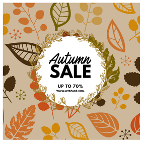 Autumn Fall sale instagram plate
