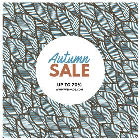 Autumn fall sale instagram post template